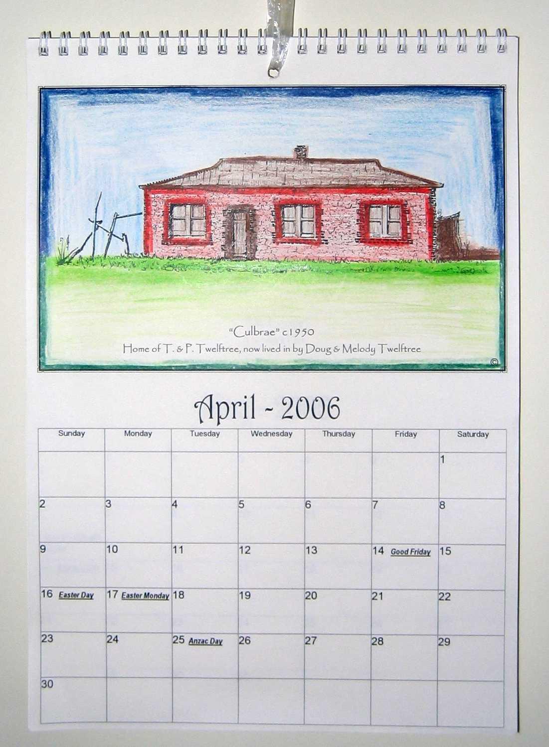 Twelftree's Calendar