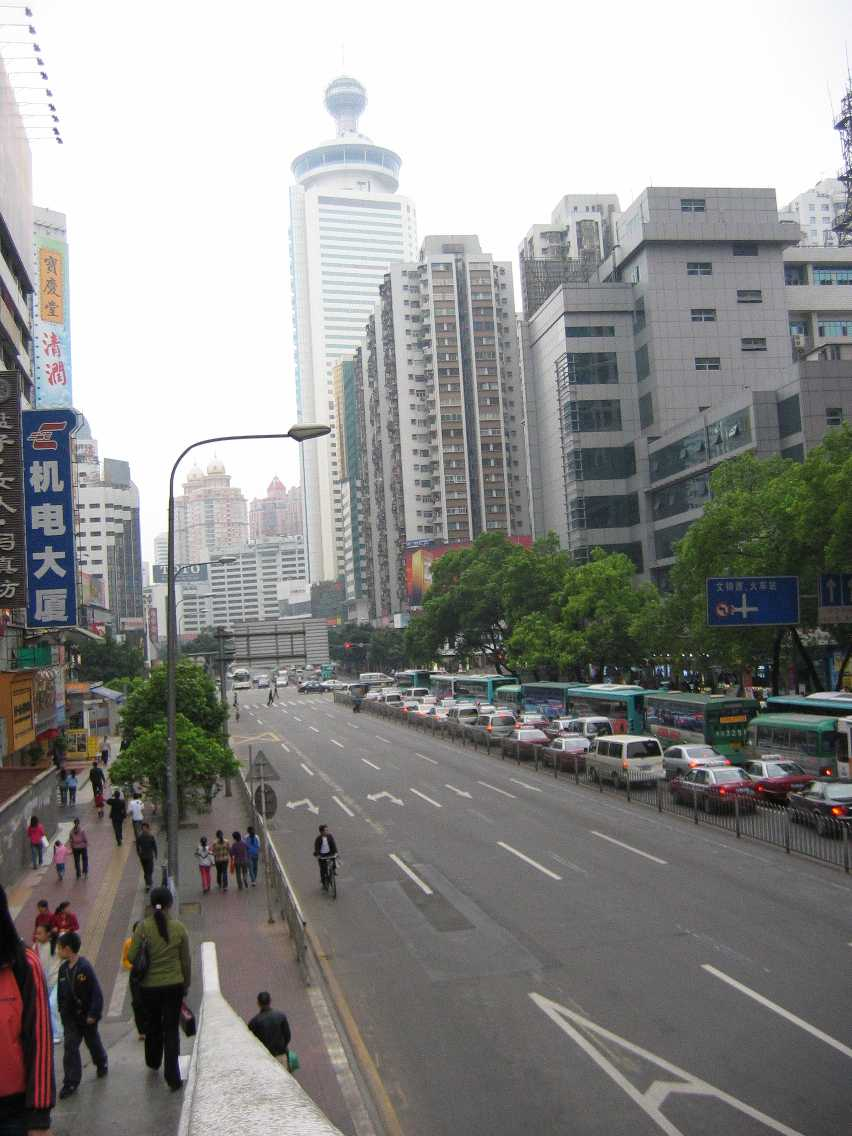 Shenzhen city and Hilton Hotel