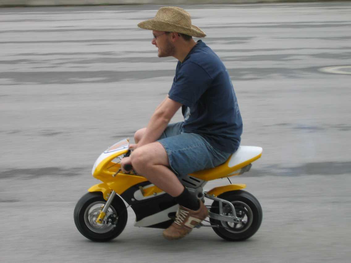 Us with the mini bike