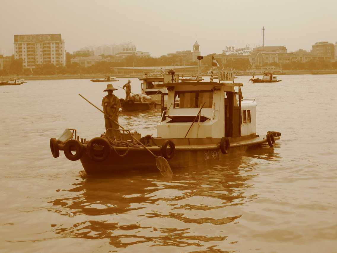Boat sepia 2