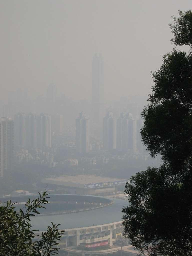 Shenzhen having a bad smog day.