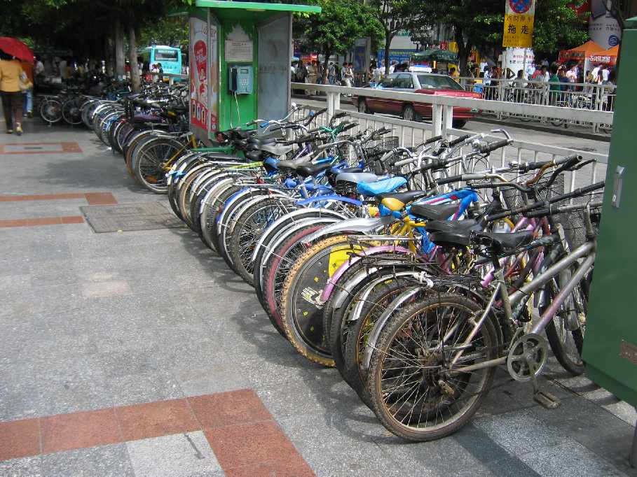 Push Bike Parking Lot