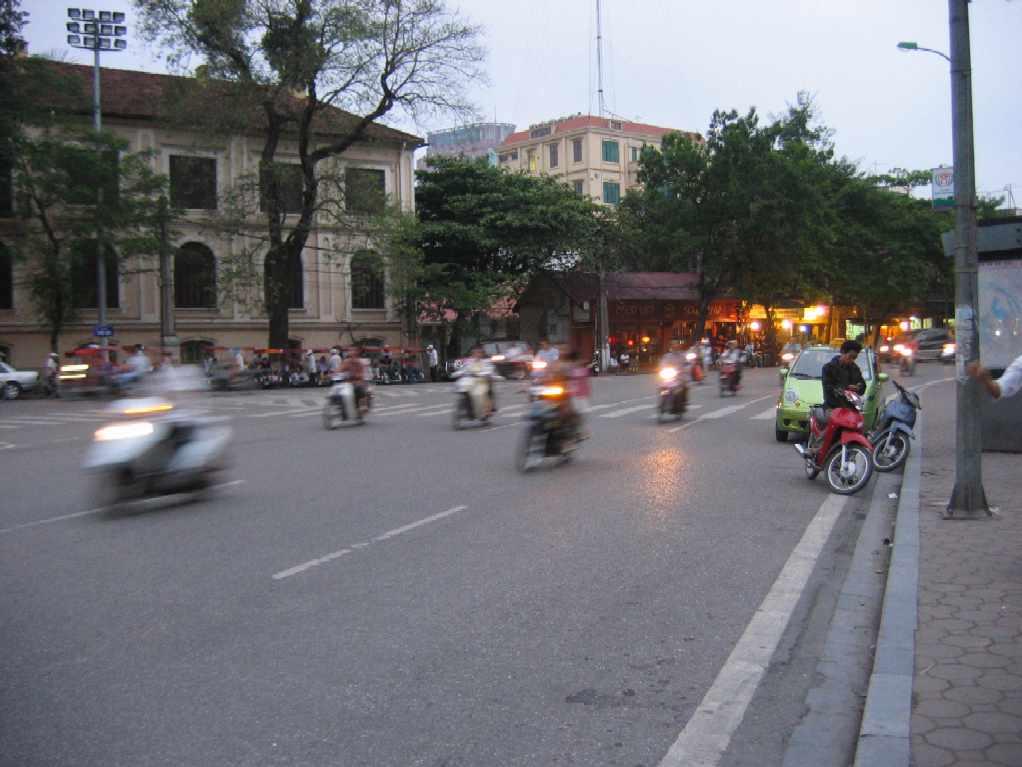 Motor bikes on the street