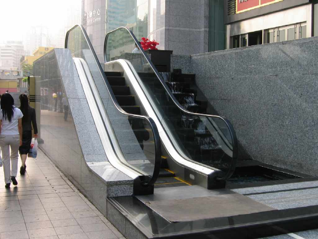 The tiny escalator