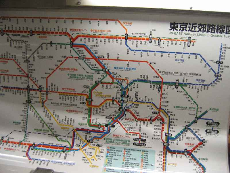 JR East Rail Tokyo map
